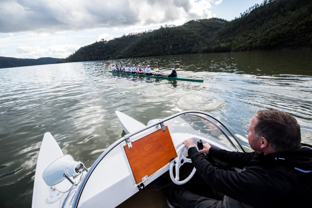 18.03.2018 Trainingsfahrt des Deutschlandachters auf dem Lago Azul, Portugal