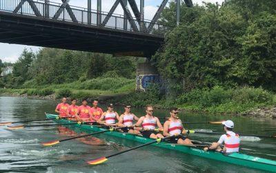 Deutsch-chinesischer Achter auf dem Dortmund-Ems-Kanal