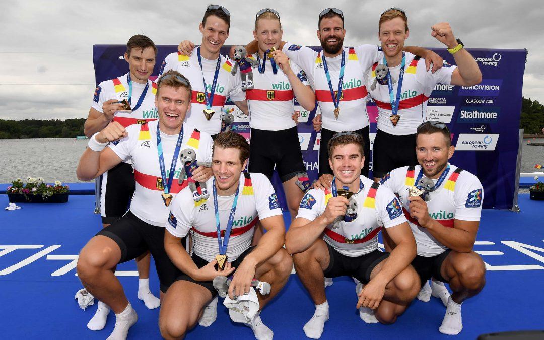 Gold in Glasgow: Deutschland-Achter feiert EM-Sieg