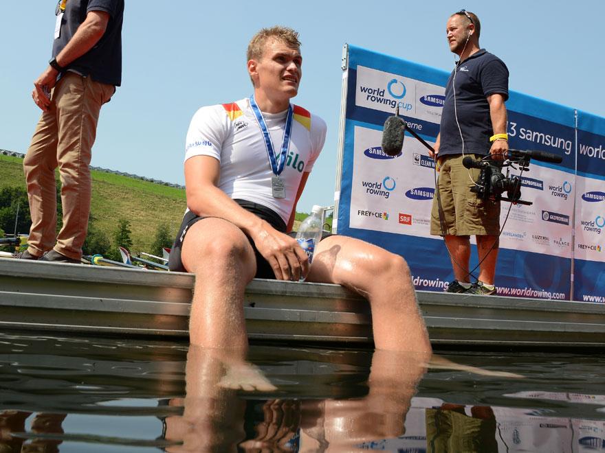 Hannes Ocik – mit 22 Jahren der Jüngste im Achter