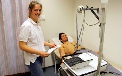 Team Deutschland-Achter beim Gesundheits-Check