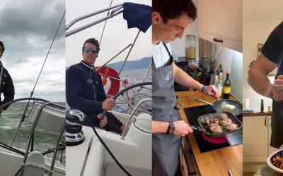 Auf dem Segelboot und in der Küche übernimmt er das Ruder