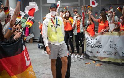 Toller Empfang für die Olympia-Silber-Gewinner von Tokio